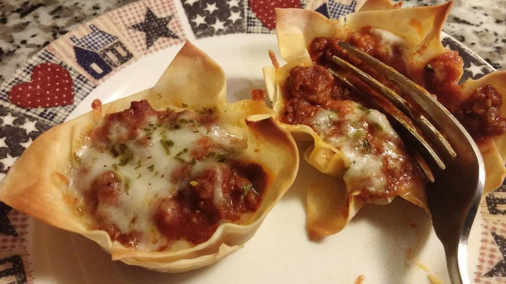 Mini Lasagna Cups 1